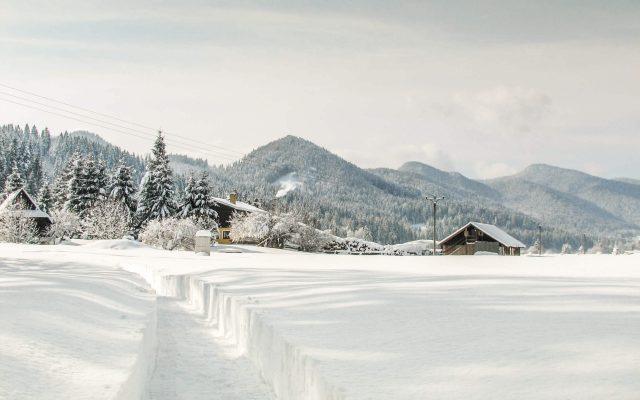 Ranč v zime